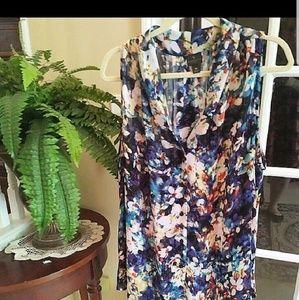 Size 3X Worthington Floral Blouse